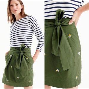 J. Crew Flower Embroidered Mini Skirt